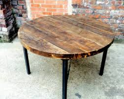 industrial kitchen table furniture. industrial chic reclaimed custom round cafe table metal dining tablebar bar restaurant kitchen furniture
