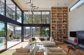 hillside contemporary furniture. This Living Room Features Floor-to-ceiling Windows And Bookshelf. Hillside Contemporary Furniture D