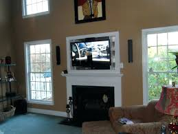 tv on wall where to put cable box. mounting fireplace put cable box install tv over wiring putting above electric smlf · gas custom stone wall on where to t