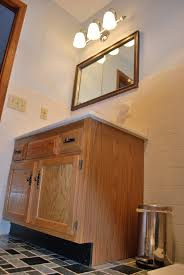 A First Foray Into Cabinet Painting Full Bath Vanity Guinness - Oak bathroom vanity cabinets