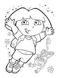Dessin Colorier Dora Princesse Imprimer