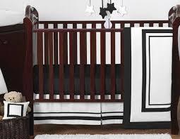contemporary black white classy uni perless baby boy girl crib bedding set