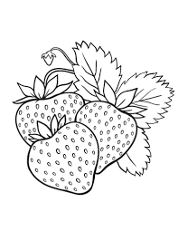 Small Picture Printable strawberry coloring page Free PDF download at http