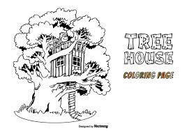 Gratis Boom Huis Vector Kleurplaat Download Gratis Vectorkunst En