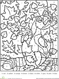 free color by number worksheets. Brilliant Color Worksheet Color By Number Raccoon To Free By Worksheets R
