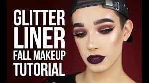 glitter liner cranberry fall makeup tutorial