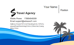 visting card format travel agency business card template