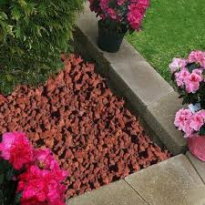 vigoro 0 5 cu ft decorative stone red lava rock backyard