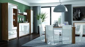 Esszimmer Komplett Set C Tempe 6 Teilig Farbe Nussfarben Weiß Hochglanz Fronteinsatz Weiß