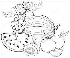 Tranh tô màu trái cây, hoa quả