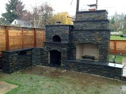 outdoor fireplace brick oven combo outdoor fireplace with pizza oven the family wood fired brick in outdoor fireplace brick oven