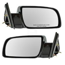 Manual Black Side Mirrors Left LH & Right RH Pair Set of 2 for ...