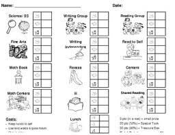 Individual Behavior Plans Charts
