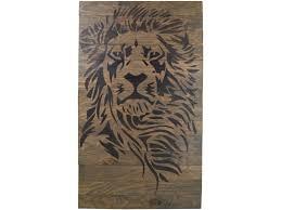 barn board wall art lion wall art