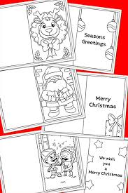 These free printable christmas colouring cards for kids make a lovely, heartfelt holiday gift for family and friends. Free Printable Christmas Colouring Cards For Kids Childhood 101