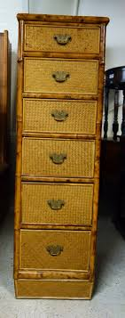 small narrow chest of drawers high druce u0026 co ltd tall bamboo rattan tall narrow chest drawers u51