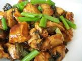 asian chicken and scallions