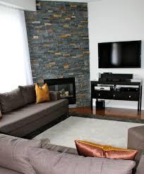 stone corner electric fireplace