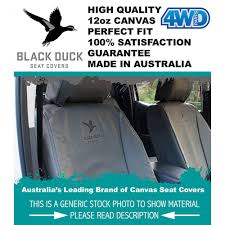 black duck canvas seat covers hilux sr5 dual xtra cab airbags 8 09