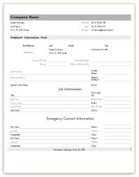 Word Forms Templates Employee Form Template