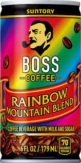 Boss cold black coffee has 10 calories per 8 oz. Boss Coffee By Suntory Rainbow Mountain Blend Japanese Flash Brew Coffee 6oz 12 Pack Imported From Japan Espresso Doubleshot Ready To Drink Contains Milk No Gluten Amazon Com Grocery Gourmet Food