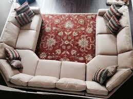 Our new sofa! Inspired by the crate and barrel u shaped sectional, but at