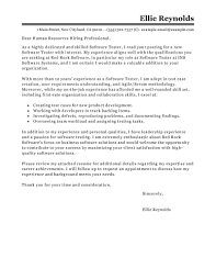 Cover Letters For A Resume Leading Professional Software Testing Cover Letter Examples 99