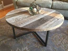 cheap reclaimed wood furniture. Interesting Wood Custom Made Round Reclaimed Wood Table With Metal Base In Cheap Furniture I
