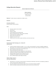 Example Of College Resumes Awesome College Resumes Template Hflser