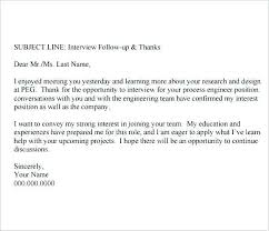 Thank You Email After Interview Subject Follow Up Template