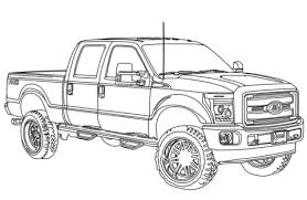pickup truck coloring pages. Simple Pickup 2014 Ford F250 Lifted Coloring Page In Pickup Truck Coloring Pages R