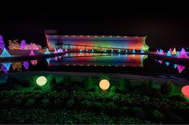 Image Building Ark Encounter The Photo Argus Rainbow Lights At The Ark Answers In Genesis