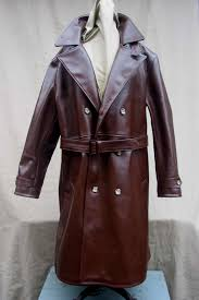 this magnificent russet horsehide trench coat is a slavishly accurate copy of a very scarce wwii army coat in our collection