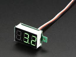 mini 3 wire volt meter 0 99 9vdc id 705 7 95 adafruit mini 3 wire volt meter 0 99 9vdc
