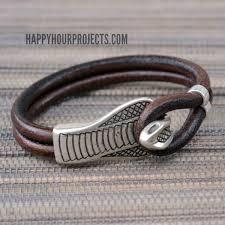 easy diy snake clasp leather bracelet