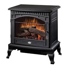 dimplex 25 traditional electric stove with bevelled glass detailing matte black com