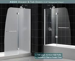 dreamline showers aqua tub door frosted glass frameless bathtub bathtub glass doors