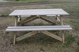 Salvaged Lumber Picnic Table Build It  Amy Allender Dot ComHow To Make Picnic Bench