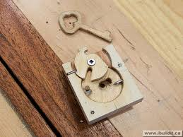 wooden lock and key