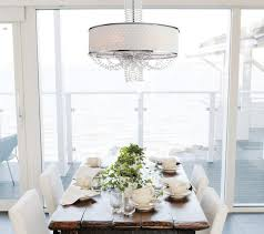 dining room crystal chandeliers with fancy allure crystal chandelier with silk drum shade contemporary