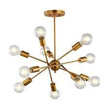 Vintage Pendant Lighting Modern Chandelier 10 Light Pendant Lighting Sputnik Light Vintage Ceiling Light Fixture Ul Listed