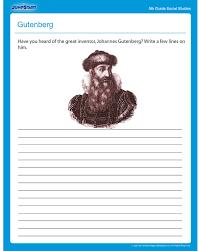 Gutenberg - Social Studies worksheets | *♧* Smart Kids Printables ...