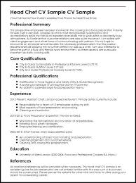 Pastry Cook Job Description Resume Head Chef Sample Sample Resume