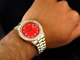 mens 36 mm rolex president 18038 18k yellow gold day date red 6 5 mens 36 mm rolex president 18038 18k yellow gold day date red 6 5 ct diamond