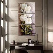 home office artwork. Tulips-3-Panels-Wall-Art-Canvas-Paintings-Wall- Home Office Artwork R