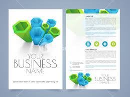 Flyer Template For Pages Abstract Two Pages Business Flyer Template Or Brochure