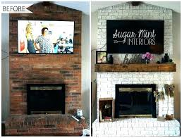 how to cover a brick fireplace wall makeover cost covering with stone veneer ho