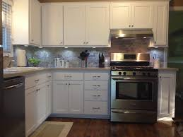 L Shaped Kitchen Remodel White Kitchen Remodel L Shaped With Beadboard Cabinet And