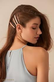 Комплект из пяти лаконичных <b>зажимов для волос</b> 044548040-99 ...