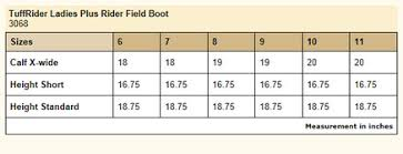 Tuffrider Breeches Com Size Charts Boots